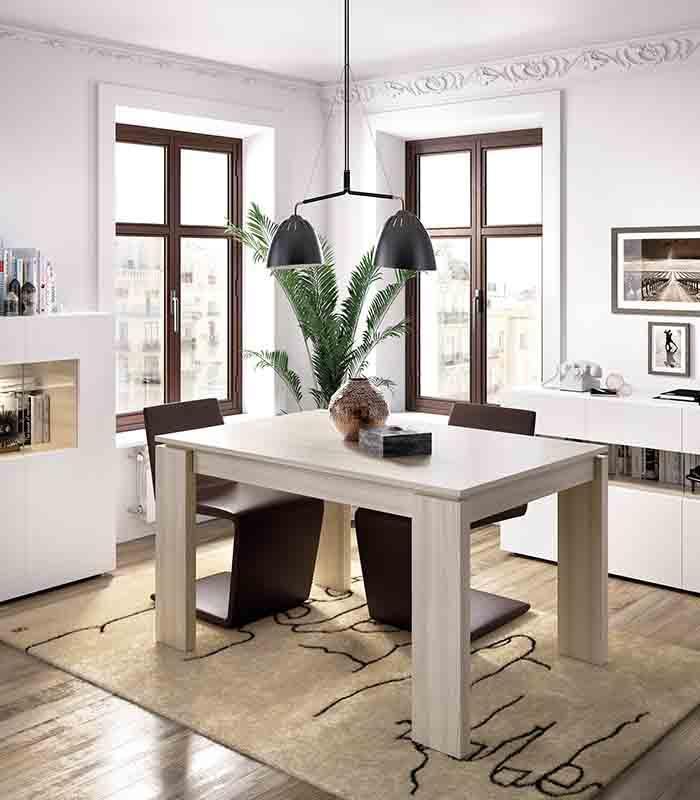 Mesa de comedor extensible duo de rimobel - Mesa de comedor plegable extensible ...