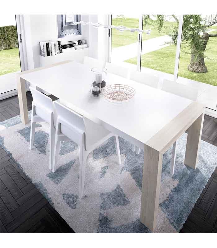 Mesa de comedor extensible pata deslizante duo rimobel - Comoda mesa extensible ...
