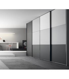 Armario puerta corredera modelo 3 plafones combinado, serie NO LIMITS de la firma JJP