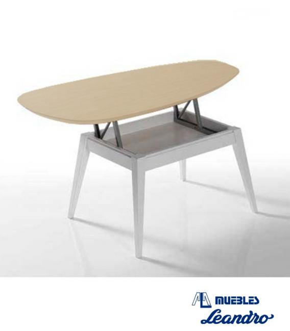 Mesa de centro elevable zeta de moduley - Mesa salon elevable ...