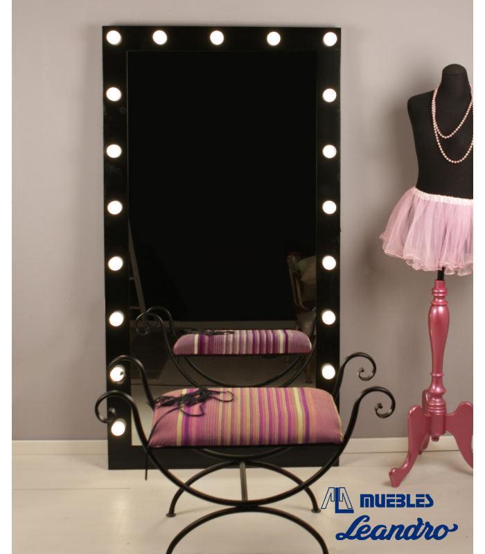 Espejo de maquillaje lacado vestidor de decoraci n for Espejos para vestidor baratos