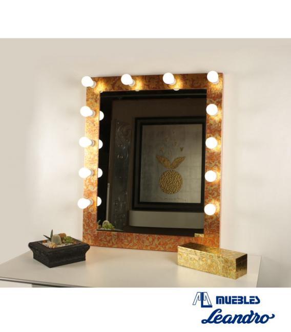 Espejo de Maquillaje oro vertical de DECORACIÓN