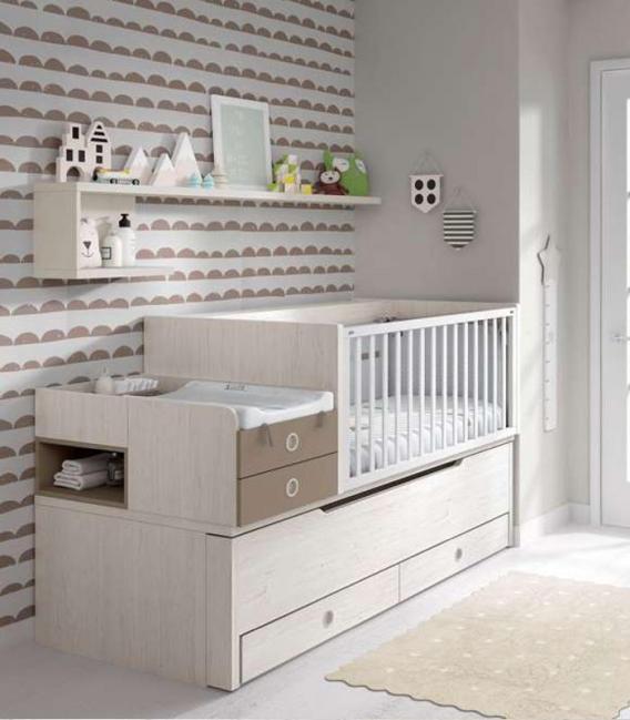 Perfecto Cuna Convertible Muebles Mesa De Cambio Embellecimiento ...