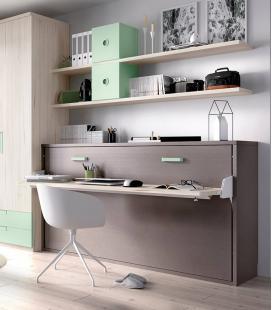 Cama abatible horizontal con escritorio