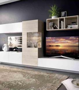 Ambiente de salón modelo DUO 56 estilo moderno de RIMOBEL