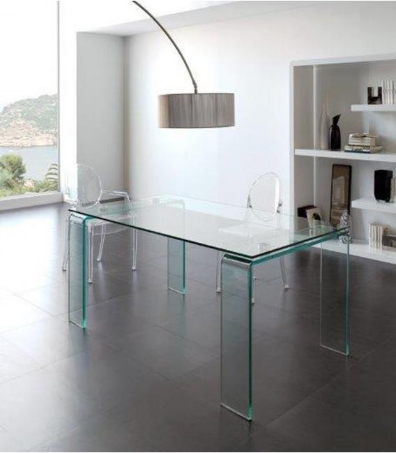 Mesa de comedor de cristal modelo DESIGN de DUGAR HOME