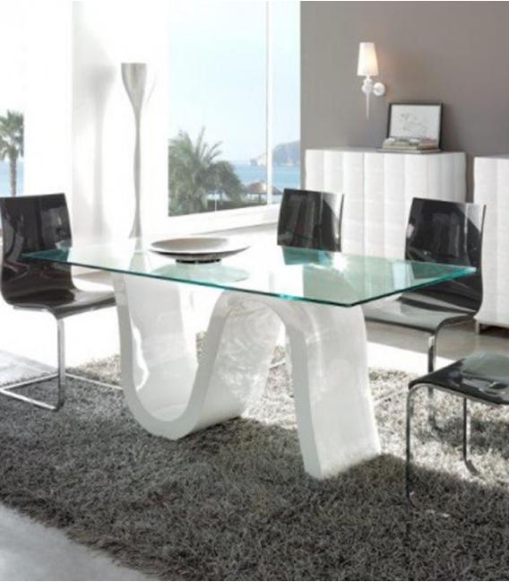 Mesa de comedor de cristal modelo DOVER de DUGAR HOME
