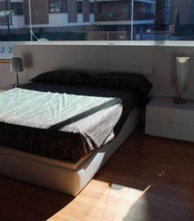 Dormitorio de matrimonio curve blanco de Mesegue