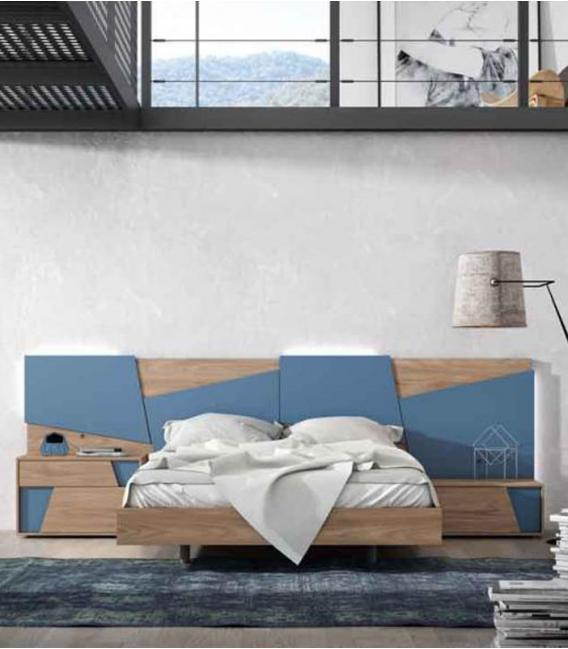 Dormitorio de matrimonio Tetris cobalto de MESEGUE