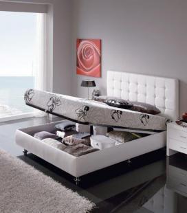 Cama tapizada con diván abatible modelo EVA de DUGARHOME