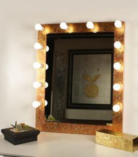 Espejo de Maquillaje oro vertical