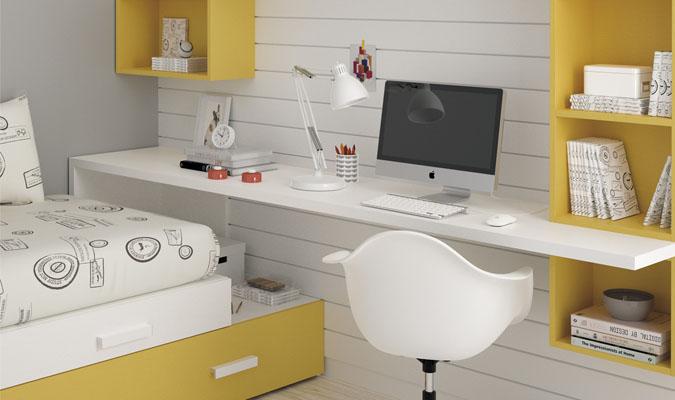 Gu a para elegir el dormitorio juvenil escritorios for Dormitorios juveniles con escritorio incorporado